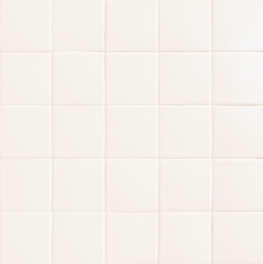 10x10 cm destonificated porcelain pool coating in white color