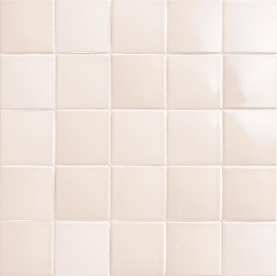 10x10 cm destonificated porcelain pool coating in beige color